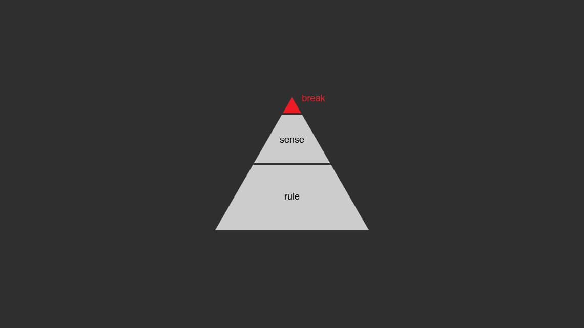 原則と感覚とぶっこわしのピラミッド